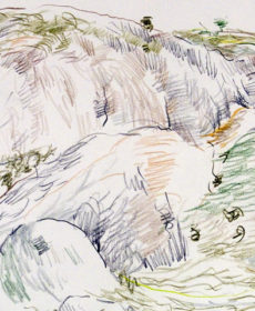 Seashore Drawing by Nadezhda Kouteva